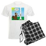 Beaver Wood Carving Men's Light Pajamas