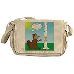 Beaver Wood Carving Messenger Bag