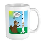 Beaver Wood Carving 15 oz Ceramic Large Mug