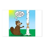Beaver Wood Carving Postcards (Package of 8)