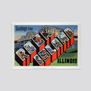 Rock Island Illinois Greetings Rectangle Magnet