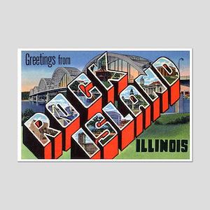 Rock Island Illinois Greetings Mini Poster Print
