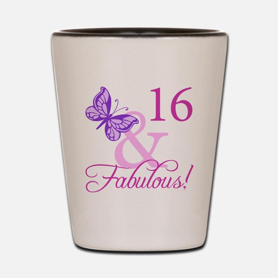 Fabulous 16th Birthday For Girls Shot Glass