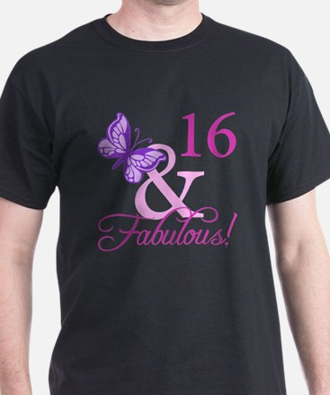 Fabulous 16th Birthday For Girls T-Shirt