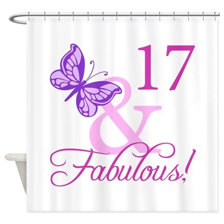 Fabulous 17th Birthday For Girls Shower Curtain By