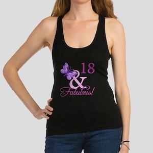 Fabulous 18th Birthday For Girls Racerback Tank To