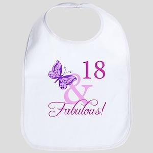 Fabulous 18th Birthday For Girls Bib