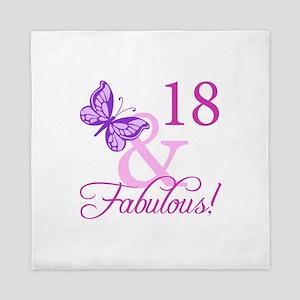 Fabulous 18th Birthday For Girls Queen Duvet