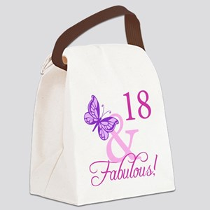 Fabulous 18th Birthday For Girls Canvas Lunch Bag