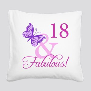 Fabulous 18th Birthday For Girls Square Canvas Pil