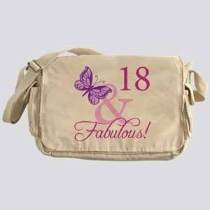 Fabulous 18th Birthday For Girls Messenger Bag