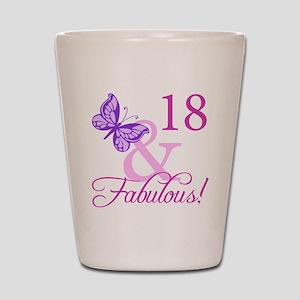 Fabulous 18th Birthday For Girls Shot Glass