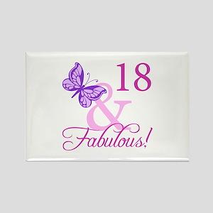 Fabulous 18th Birthday For Girls Rectangle Magnet