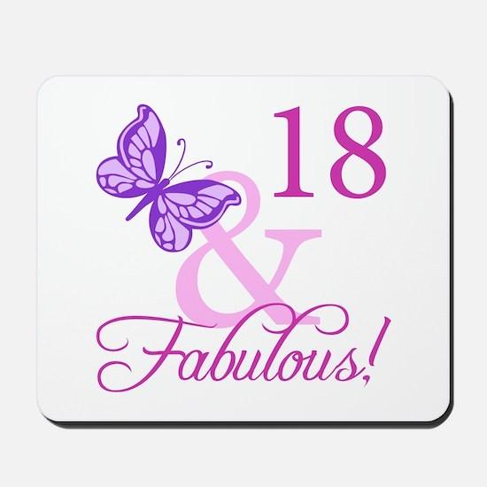 Fabulous 18th Birthday For Girls Mousepad
