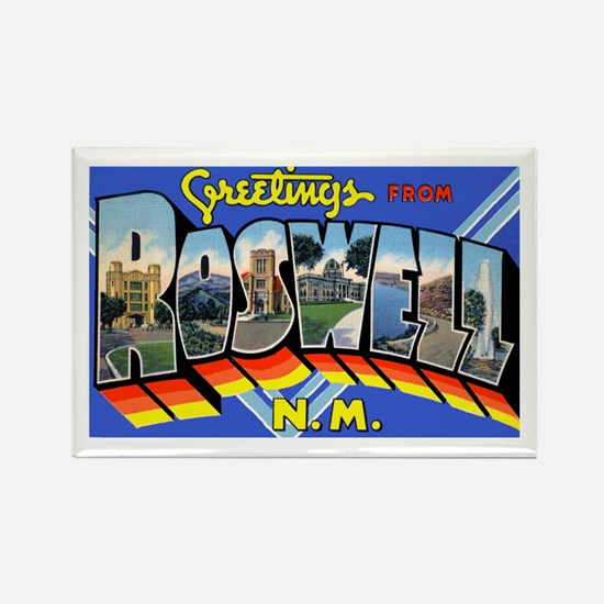 Roswell New Mexico Greetings Rectangle Magnet