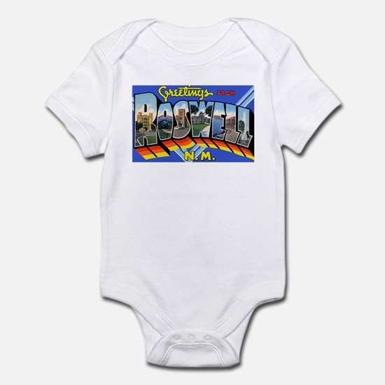 Roswell New Mexico Greetings Infant Bodysuit
