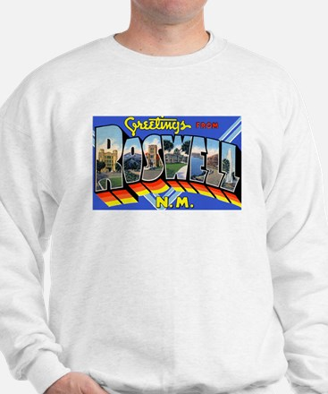 Roswell New Mexico Greetings (Front) Sweatshirt