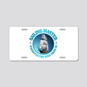 Sailing Master Aluminum License Plate
