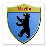 Berlin Germany Metallic Shield Square Car Magnet 3