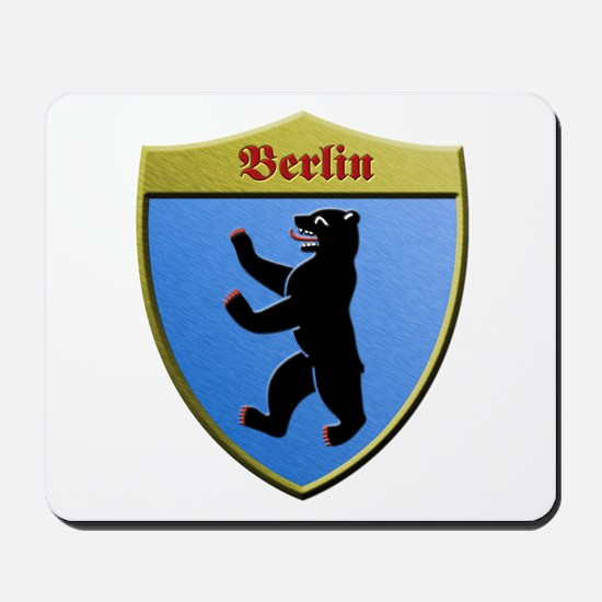 Berlin Germany Metallic Shield Mousepad