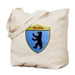 Berlin Germany Metallic Shield Tote Bag