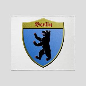 Berlin Germany Metallic Shield Throw Blanket