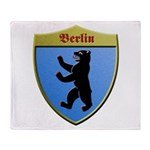 Berlin Germany Metallic Shield Throw Blanket