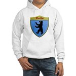Berlin Germany Metallic Shield Hoodie