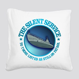 Silent Service Square Canvas Pillow