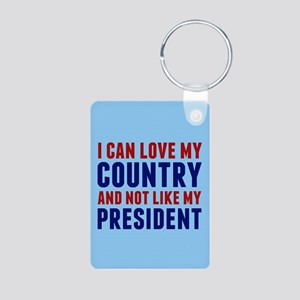 Anti Trump America Aluminum Photo Keychain