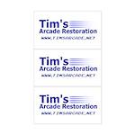 Tim's Arcade Restoration<br>Sticker 3-Pk