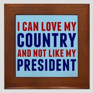 Anti Trump America Framed Tile