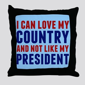 Anti Trump America Throw Pillow