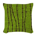 Dew Dot Green Tea Woven Throw Pillow