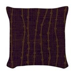 Dew Dot Plum Woven Throw Pillow