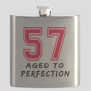 57 Year birthday designs Flask