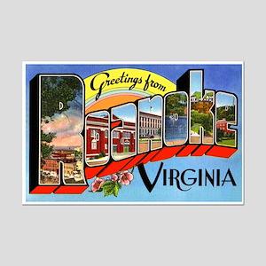 Roanoke Virginia Greetings Mini Poster Print