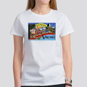 Roanoke Viriginia Greetings (Front) Women's T-Shir