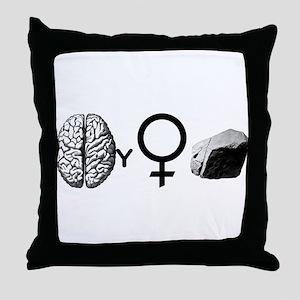 Brainy Girls Rock! Throw Pillow