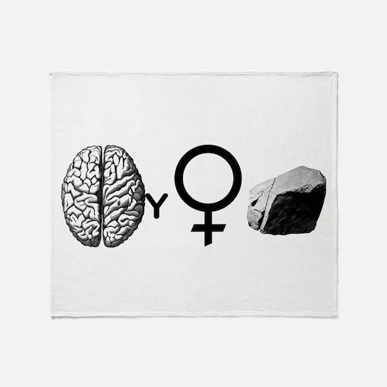 Brainy Girls Rock! Throw Blanket