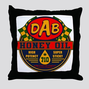 DAB Honey Oil 710 Throw Pillow