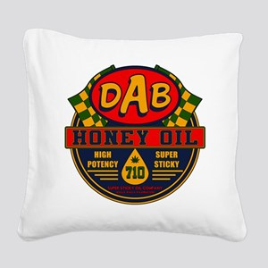 DAB Honey Oil 710 Square Canvas Pillow