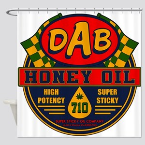 DAB Honey Oil 710 Shower Curtain