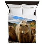 Bear Family Queen Duvet
