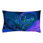 Blue Abstract Heart Pillow Case