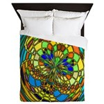 Stained Glass Butterfly Queen Duvet