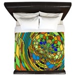 Stained Glass Butterfly King Duvet