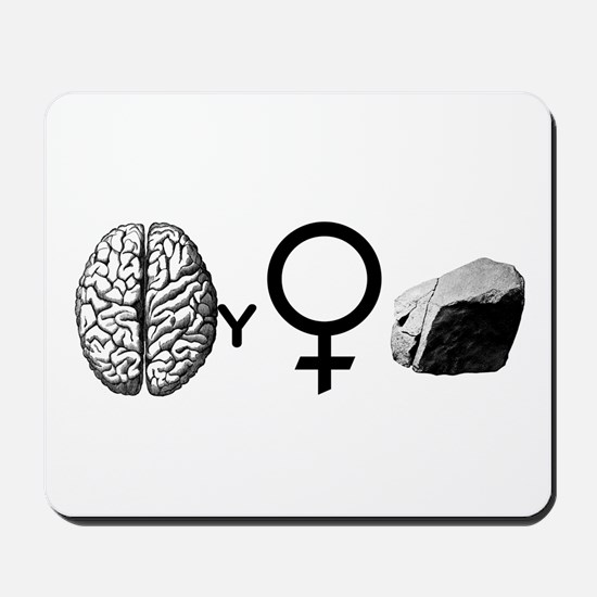 Brainy Girls Rock! Mousepad