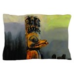 Raven Totem Pole Pillow Case