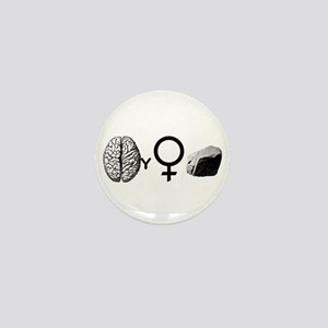 Brainy Girls Rock! Mini Button